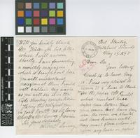 Letter from Albert Linney to The Royal Botanic Gardens, Kew; from Port Stanley, Falkland Islands; 17 May 1895; four page letter comprising two images; folio 228