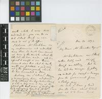 Letter and business card from Edward Wingfield to Sir William Thiselton-Dyer; from Colonial Office; 20 Dec 1893; six page letter and business card comprising three images; folio 109