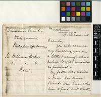 Letter from Philip Cunliffe-Owen to Sir William Jackson Hooker; from Science and Art Department, South Kensington, London; 17 Mar 1858; four page letter comprising of two images; folio 449