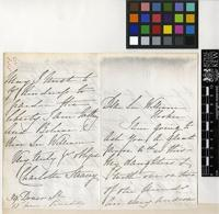 Letter from Ms Charlotte Stracey to Sir William Jackson Hooker; from 39 Dover Street, Piccadilly; 13 June c.1858; four page letter comprising two images; folio 551