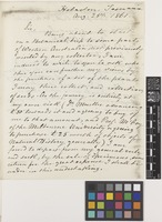 Letter from Augustus F.[Frederick] Oldfield to Sir Joseph Dalton Hooker; from Hobarton [Hobart], Tasmania, [Australia]; 25 Aug 1861; two page letter comprising two images; folio 238