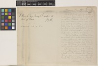 Letter from William Trelease to the Royal Botanical Gardens, Kew; from St Louis, Missouri, [United States of America]; c.1893; two page letter comprising one image; folio 82a