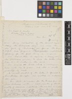 Letter from J.G.[John Gill] Lemmon to Sir Joseph Dalton Hooker; from [Lemmon] Herbarium, 1205 Franklin Street, Oakland, California, [United States of America]; 21 Nov 1884; one page letter comprising one image; folio 272
