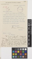 Letter from William Trelease to Sir David Prain; from The Missouri Botanical Garden, St Louis, Missouri, [United States of America]; 21 Dec 1907; one page letter comprising one image; folio 299