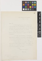 Letter from Sir David Prain to the Smithsonian Institution; from Royal Botanic Gardens, Kew, [England]; 9 July 1912; one page letter comprising one image; folio 46