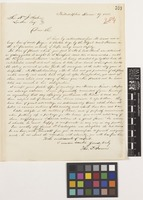 Letter from Thomas P.[Potts] James to Sir William Jackson Hooker; from Philadelphia, [United States of America]; 29 Dec 1855; one page letter comprising one image; folio 254