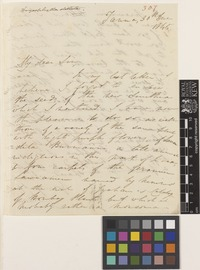 Letter from J.S.[John Sutherland] Law to Sir William Jackson Hooker; from Tanna, [India]; 30 Dec 1845; two page letter comprising two images; folio 307