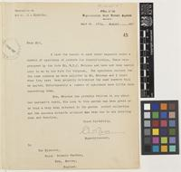 Letter from Charles Bogg to Sir Arthur William Hill; from Office of the Superintendent, Government Botanic Gardens, Maymyo [Pyin U Lwin, Burma]; 16 Aug 1927; one page letter comprising one image; folio 45