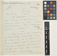 Letter from R.C.[Ronald Charles] Lindsay to Sir Arthur William Hill; from 1 Holland Park, [London,England]; c.Oct 1926; one page letter comprising one image; folio 598