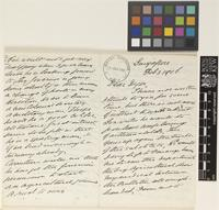 Letter from H.N.[Henry Nicholas] Ridley to Sir William Thiselton-Dyer; from Singapore; 3 Feb 1906; twelve page letter comprising six images; folios 150 - 152