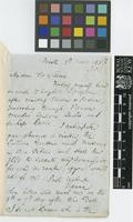 Letter from J.E.[John Ellerton] Stocks to Sir William Jackson Hooker; from Trieste, [Italy]; 7 Nov 1853; two page letter comprising two images; folio 303