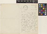 Letter from A.[Andrew Thomas] Gage to Sir David Prain; from Royal Botanic Gardens, Sibpur, Calcutta [Shibpur, Kolkata, India]; 13 Jan 1906; two page letter comprising two images; folio 59