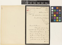 Letter from W.W.[William Wright] Smith to Sir David Prain; from Royal Botanic Gardens, Sibpur, Calcutta [Shibpur, Kolkata, India]; 8 Dec 1910; two page letter comprising two images; folio 197
