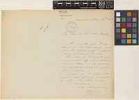 Letter from M.[Melchior] Treub to Sir William Thiselton-Dyer; from Botanic Garden, Buitenzorg, Java [Bogor, Indonesia]; 19 May 1888; one page letter comprising one image; folio 101