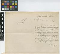Letter from A. [Auguste Francois Marie] Glaziou to Sir William Thiselton-Dyer; from Rio de Janeiro; 8 Aug 1880; one page letter comprising one image; folio 102