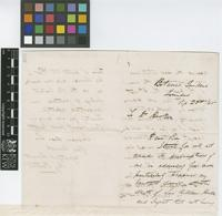 Letter from H.[Henry] Prestoe to Sir Joseph Dalton Hooker; from Botanic Gardens, Trinidad; 22 Sep 1865; three page letter comprising two images; folio 403