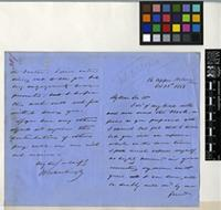 Letter from Martingly[?] to Sir William Jackson Hooker; from 16 Upper Woburn Place; 31 Oct 1858; two page letter comprising one image; folio 387