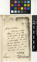 Letter from Sir James Emerson Tennent to Sir William Jackson Hooker; from The Board of Trade; 20 May 1858; one page letter comprising one image; folio 562