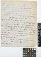 Letter from William Jameson to [Sir William Jackson Hooker]; from Quito [Ecuador]; 17 Dec 1844; two page letter comprising two images; folio 89