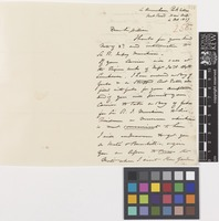 Letter from G.F.[George Farquhar] Morice to Sir William Jackson Hooker; from 4 Amersham Park Villas, Kent Road, New Cross, [London, England]; 4 Oct 1857; two page letter comprising two images; folio 258
