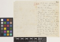 Letter from A.[Asa] Gray to Sir William Jackson Hooker; from 9 Rue Richepanse, Paris, [France]; 30 Apr 1851; three page letter comprising two images; folio 280