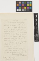 Letter from Hanford A. Edson to George Nicholson; from Cloudland, [Georgia, United States of America]; 27 Oct 1893; one page letter comprising one image; folio 126