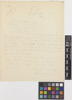 Letter from Frank H.[Haines] Lamb to Sir William Thiselton-Dyer; from Stanford University, California, [United States of America]; 21 Aug 1895; one page letter comprising one image; folio 237