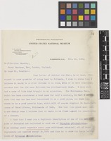 Letter from J.N.[Joseph Nelson] Rose to William Botting Hemsley; from Smithsonian Institution, United States National Museum, Washington, D.C., [United States of America]; 18 Nov 1904; one page letter comprising one image; folio 76