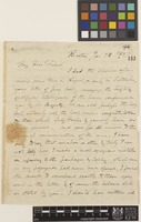 Letter from B.D.[Benjamin Daniel] Greene to Sir William Jackson Hooker; from Boston, [United States of America]; 14 Jan 1837; four page letter comprising four images; folio 94