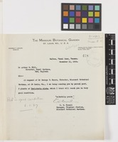 Letter from C.W.[Charles] Powell to Sir Arthur William Hill; from The Missouri Botanical Garden, Balboa, Canal Zone, Panama; 11 Dec 1926; one page letter comprising one image; folio 478