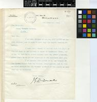 Letter from J. G. McDonald to Sir David Prain; from P.O. Box 67, Bulawayo; 8 Nov 1913; one page letter comprising one image; folio 201