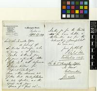 Letter from Sir Francis Douglas Fox to Sir William Thiselton-Dyer; from 56 Moorgate Street, London; 27 April 1909; two page letter comprising one image; folio 211