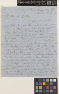 Letter from J.G.[John George] Champion to Sir William Jackson Hooker; from Victoria, Hong Kong, [China]; 28 Dec 1841; four page letter comprising four images; folio 48