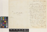 Letter from Lawrence Peel to Sir William Jackson Hooker; from Garden Reach, [Kolkata ex-Calcutta]; 2 Sep 1848; three page letter comprising two images; folio 377