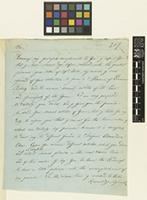 Letter from Dr X. Landerer to the Royal Botanic Gardens, Kew; from Athens, Greece; 26 Jan 1857; two page letter comprising two images; folio 207