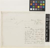 Letter from Charles Ford to Sir Joseph Dalton Hooker; from Botanic Garden, Hong Kong, [China]; 3 Apr 1882; three page letter comprising two images; folio 238