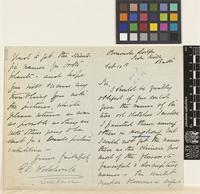 Letter from E.C. Wodehouse to the Royal Botanic Gardens, Kew; from Ormonde Lodge, Sion Hill, Bath, [England]; 10 Feb 1886; four page letter comprising two images; folio 1006