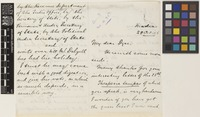 Letter from M.E.[Mountstuart Elphinstone] Grant Duff to Sir William Thiselton-Dyer; from Madras [Chennai, India]; 28 Oct 1885; four page letter comprising two images; folio 387