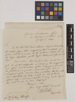 Letter from Robert Stokes to Sir William Jackson Hooker; from African Civilization Office, 15 Parliament Street, [London, England]; 17 Apr 1841; one page letter comprising one image; folio 339