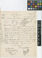Letter from J.C. Harvey to Sir David Prain; from Sanborn, V.C., Mexico; 16 May 1913; one page letter comprising one image; folio 77