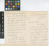 Letter from Francis Watts to Sir William Thiselton-Dyer; from Hereford Road, Bayswater, [London]; 22 June 1903; seven page letter comprising four images; folios 14 - 15