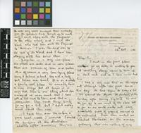 Letter from R. Service to The Royal Botanic Gardens, Kew; from the Science and Agriculture Department, The Botanic Gardens, Georgetown, Demerara, British Guiana [Guyana]; 24 Oct 1914; eight page letter comprising four images; folios 148 - 149