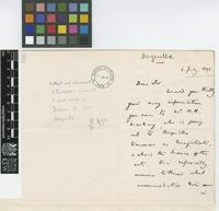 Letter from H.W. Just to Daniel Morris; from the Colonial Office, [London?]; 16 July 1891; two page letter comprising two images; folio 555