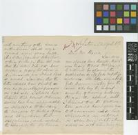 Letter from R.G. McHugh to Daniel Morris; from Castries, [St Lucia]; 22 Apr 1892; seven page letter comprising six images; folios 419 - 421