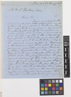Letter from H. Crüger [Hermann Crueger] to Sir William Jackson Hooker; from Trinidad; 24 Jan 1858; four page letter comprising four images; folio 101
