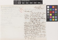 Letter from William Thomas March to Sir William Jackson Hooker; from Spanish Town, [Jamaica]; 9 July 1856; three page letter comprising two images; folio 219