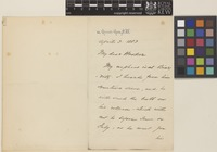 Letter from J.H.[John Henry] Lefroy to Sir Joseph Dalton Hooker; from 82 Queen's Gate, [London, England]; 3 Apr 1883; two page letter comprising two images; folio 126