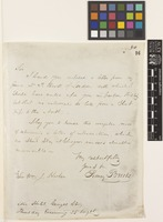 Letter from Sidney Brooks to Sir William Jackson Hooker; from Star Hotel, George Square, [Glasgow, Scotland]; 25 Aug c.1836; one page letter comprising one image; folio 50