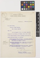 Letter from R.[Richard] Rathbun to Sir David Prain; from Smithsonian Institution, United States National Museum, Washington, D.C., [United States of America]; 26 Feb 1906; one page letter comprising one image; folio 38
