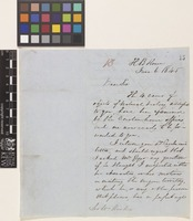 Letter from A.[Archibald] Barclay to Sir William Jackson Hooker; from 'HB House' [Hudson's Bay House, England]; 6 June 1845; two page letter comprising two images; folio 13